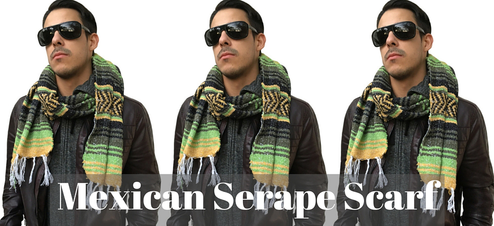 Stay warm with a handcrafted Mexican serape scarf!
