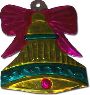 Mexican Tin Christmas Ornament - Bells