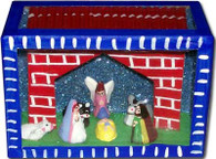 Mexican Retablo Nativity Nacimiento