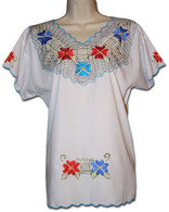 Mexican Embroidered Blouse XL