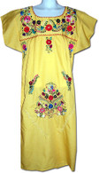 Mexican Fiesta Embroidered Dress Yellow Size 4