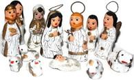 Christmas Creche Mexican Nativity Set Gold