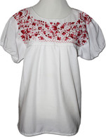 Embroidered Peasant Blouse M