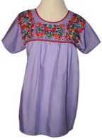 Lavender Mexican embroidered blouse S
