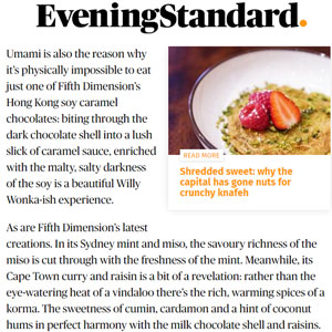 Evening Standard Review of our savoury chocolates