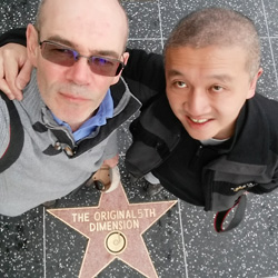 Us at the Hollywood Walk of Fame