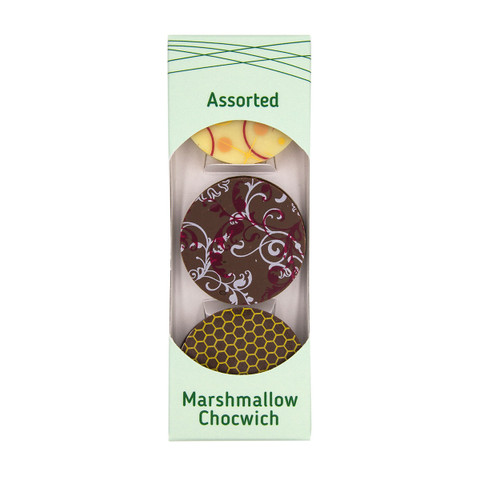 Assorted Marshmallow Chocwich - flavours: Dulce de Leche, Vanilla, Honey-Glazed Peanuts