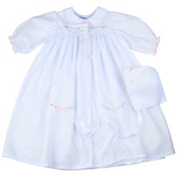 Smocked Yoke Take Me Home Gown & Hat Set