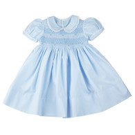 Smocked Dress Lace Trim