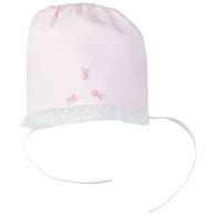 Embroidered & Lace Bonnet