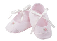 Girls Rose Garden Collection Ribbon Booties