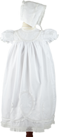 Christening Set with Embroidered Yoke