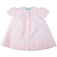 Girls Open Front Daygown with Embroidered Yoke