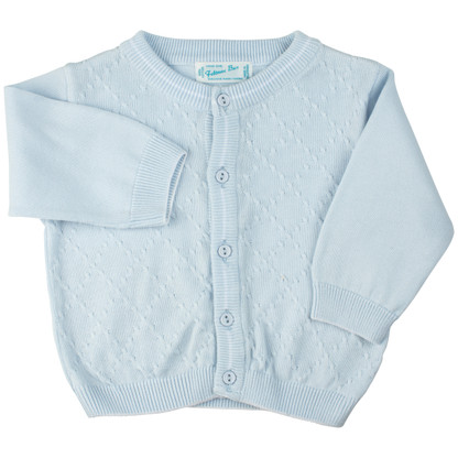 Boys Cardigan with Diamond Design