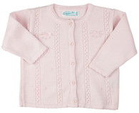 Cardigan with Rose & Bows