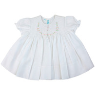 Smocked Dress with Roses