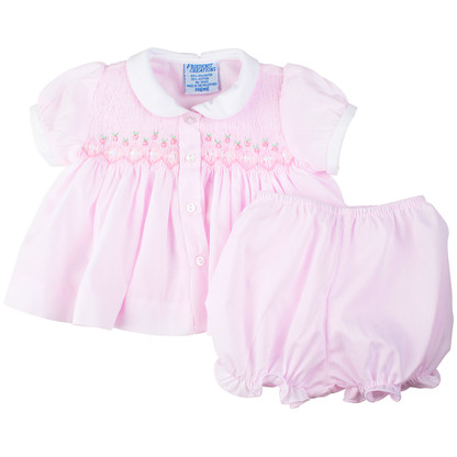 Smocked Diaper Set with Ribbon
