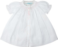 Smocked Yoke Open Front Daygown