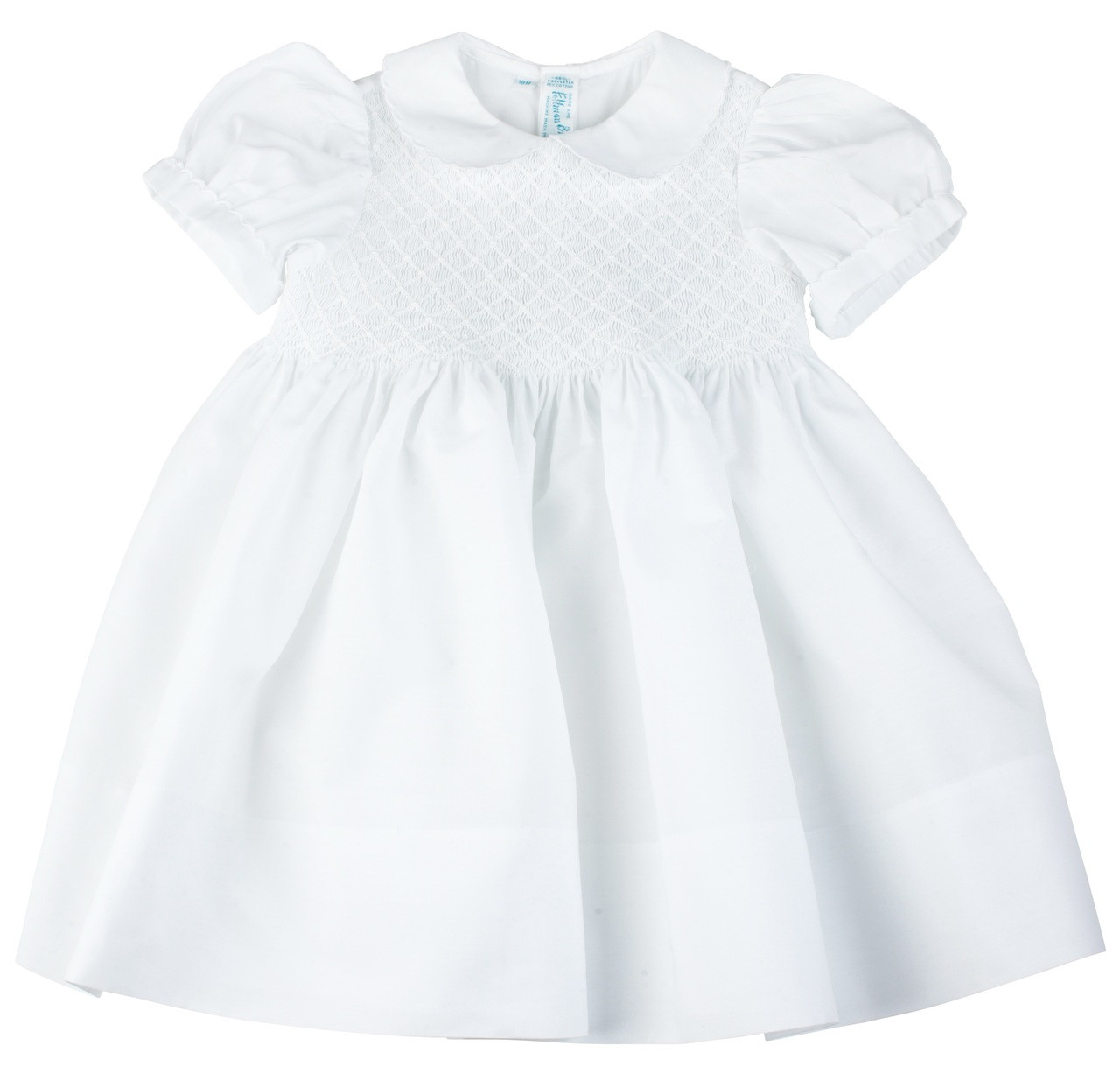 White Smocked Dress JeP5jbtn