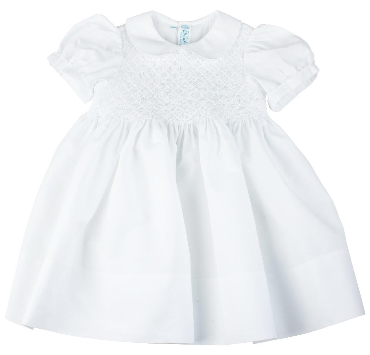 White Smocked Dress JeP5jbtn
