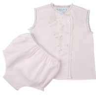 Girls Diaper Set with Lace and Embroidery