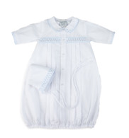 Boys Dot Embroidered Take Me Home Gown with Hat