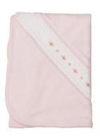 Pima Cotton Smocked Flower Blanket