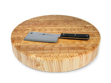 "Larch Wood Chef's Block 18.25"" Round - 2.5"" Thick"