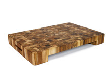 Proteak End Grain Bowl Cut-Out Rectangle Chopping Block