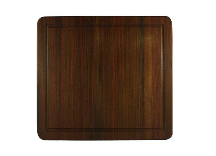 brazilian walnut  ipe  cutting board 17 x 16 inch