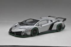 1/18 Kyosho Lamborghini Veneno Hardtop (Grey w/ Green Line)