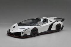 1/18 Kyosho Lamborghini Veneno Roadster (White w/ Red Line)