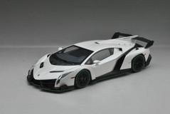 1/18 Kyosho Lamborghini Veneno Hardtop (White w/ Green Line)