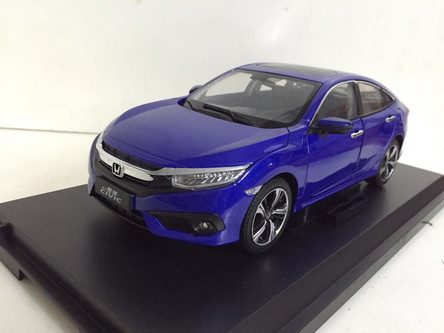 1 18 dealer edition 2016 honda civic blue for Honda civic dealership