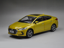 1/18 All New Dealer Edition 2017 Hyundai Elantra (Yellow)