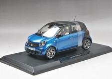 1/18 Norev Mercedes-Benz Smart 4 Door (Blue)
