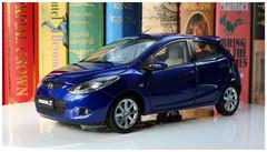 1/18 Dealer Edition Mazda 2 Hatchback (Blue)