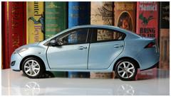 1/18 Dealer Edition Mazda 2 Sedan (Silver Blue)