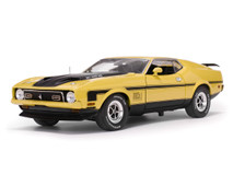 1/18 Sunstar 1971 Ford Mustang MACH I (Yellow)