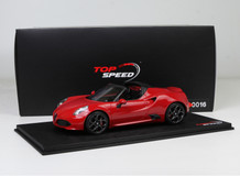 1/18 TSM Top Speed Alfa Romeo 4C Spider (Red)