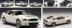 1/18 AUTOart Ford Mustang Shelby GT500 (White w/ Silver Stripes)