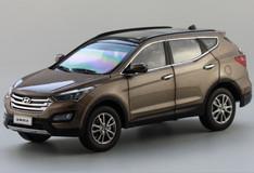 BRAND NEW RARE 1/18 HYUNDAI SANTA FE (BROWN) DIECAST CAR MODEL