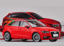 1/18 AUDI A3 SPORTBACK (RED) DIECAST CAR MODEL