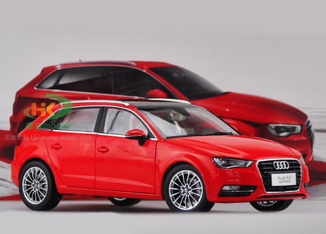 1/18 AUDI A3 SPORTBACK (RED) DIECAST CAR MODEL ...