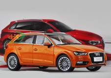 1/18 AUDI A3 SPORTBACK (ORANGE) DIECAST CAR MODEL