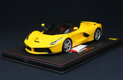 BBR HANDMADE RESIN 1/18 FERRARI LAFERRARI YELLOW W/ SILVER RIMS! LIMITED 30