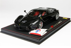 BBR HANDMADE RESIN 1/18 FERRARI LAFERRARI BLACK W/ SILVER RIMS! LIMITED 30