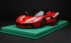BBR HANDMADE 1/18 FERRARI LAFERRARI RED BRAZIL WORLD CUP EDITION LIMITED 64
