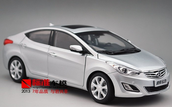 1 18 hyundai elantra silver diecast car model. Black Bedroom Furniture Sets. Home Design Ideas