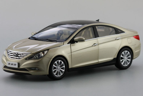 1 18 hyundai sonata gold champagne diecast car model. Black Bedroom Furniture Sets. Home Design Ideas